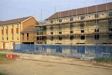 Construction of new houses in Bristol, UK