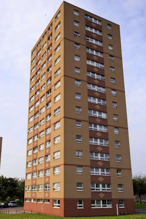 Single council tower block, in Bristol, UK