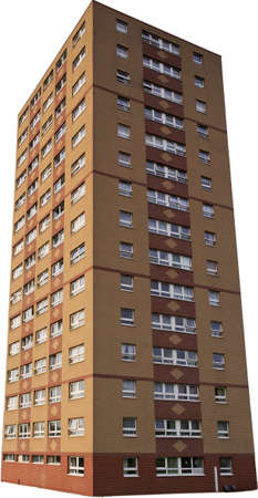 tower block: Single isolated council tower block, in Bristol UK Editorial