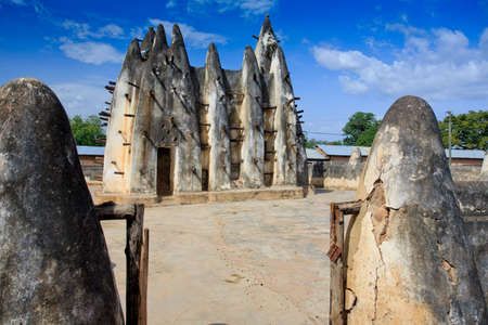 Mud and stick mosque, in Nakori, Ghana