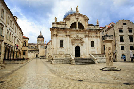 Church of St Blaise in Dubrovnik at dawn photo