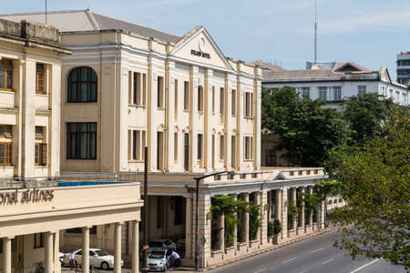 upmarket: Yangon, Myanmar, 8 Nov 2015. The Strand Hotel is an important landmark and upmarket hotel dating from the British colonial rule