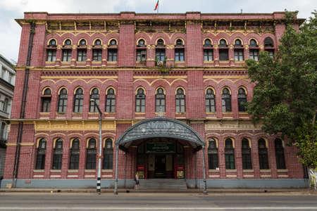 Yangon, Myanmar, 8 Nov 2015. The Central Post Office in Yangon is a grand brick building