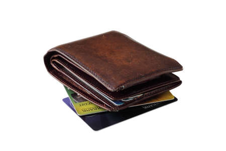non cash: purse with bank cards