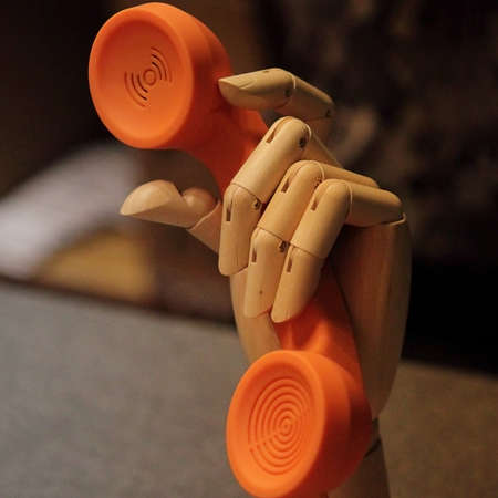 handset in the hands of the dummy Stock Photo - 21846934