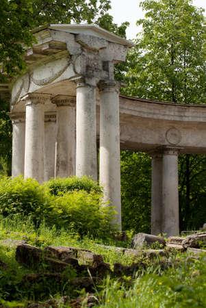 Apollo colonnade in Pavlovsk, Saint-Petersburg
