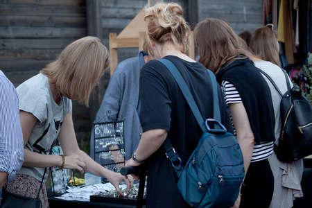 girls on the flea market