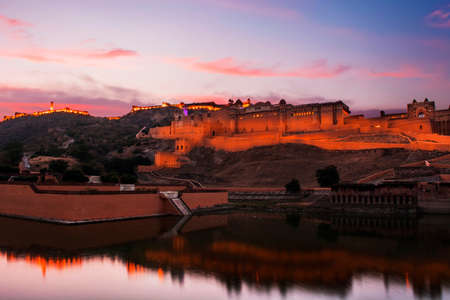 Sunset view of Amer fort , Jaipur, Rajasthan