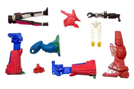 componentes de juguetes robot juguete se descompone foto de archivo