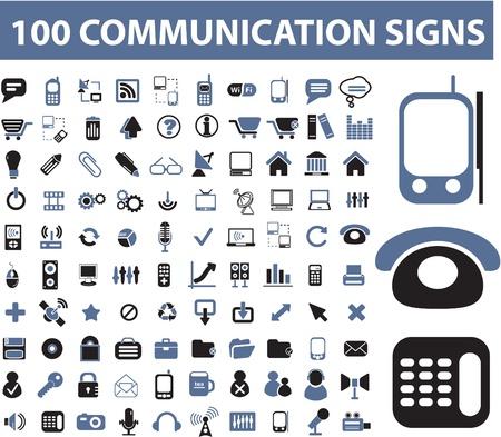 通信: 100 通信標識  イラスト・ベクター素材