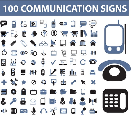 customer service phone: 100 communication signs