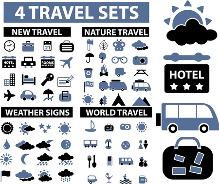 recreation room: 100 travel signs