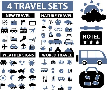 foto carnet: signos de 100 viajes Vectores