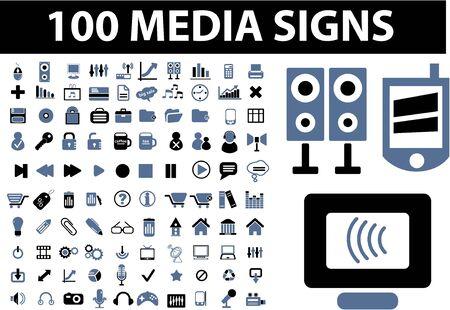 signos de 100 medios Ilustración de vector
