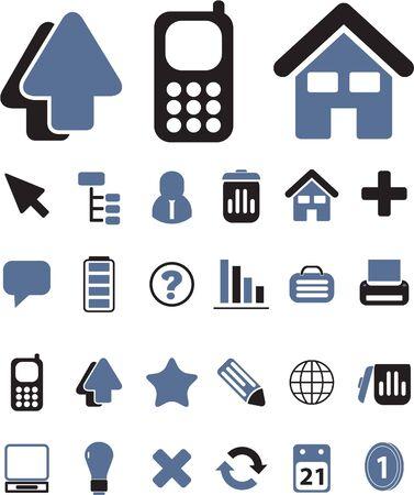 contact book: signos simple de Oficina Vectores