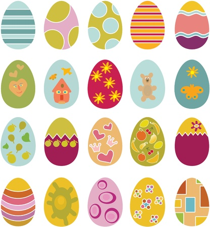 cute easter eggs Illustration