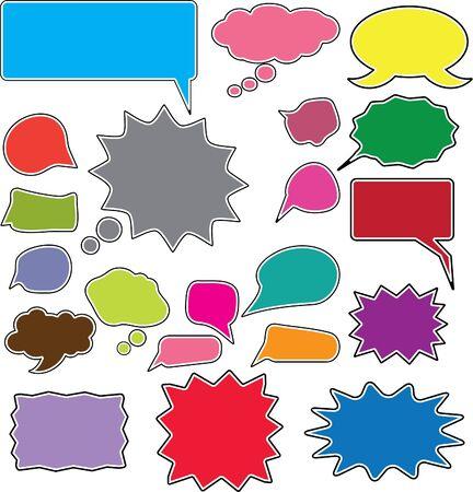 chat bubbles: 20 comic style chat bubbles Illustration