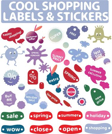 cool shopping - labels  Vector