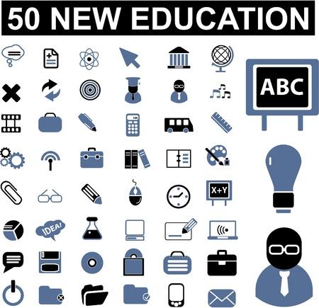 geografia: 50 signos de educación Vectores