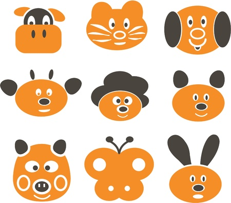 animals cute signs Stock Vector - 8904987