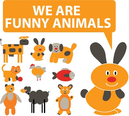 animals cute signs Vector