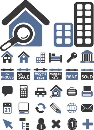 real estate signs Vector