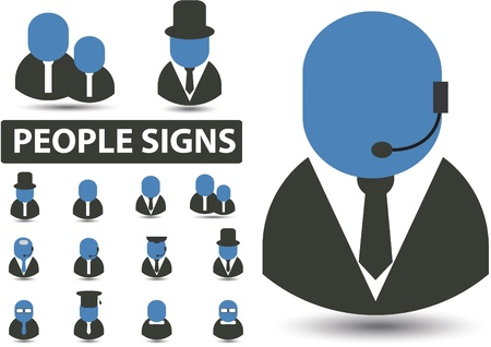 people signs Illustration