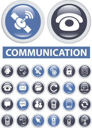 communication buttons Stock Photo - 8905002