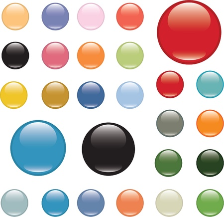 glossy color buttons Stock Vector - 8905039