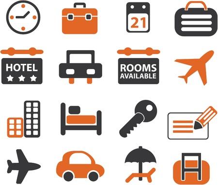 viaje de negocios: conjunto de signos de viajes