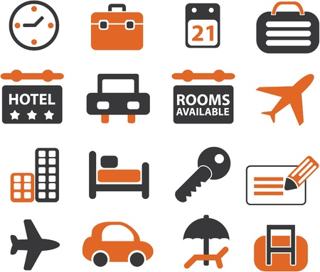travel signs set Illustration
