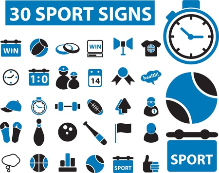 30 sport signs Stock Vector - 8905040
