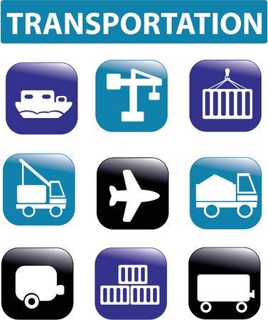 cargo vessel: transportation signs Illustration