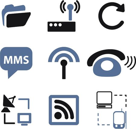 wireless connection: communication signs