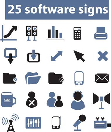 25 software signs Vector