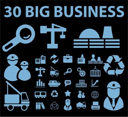 big business: signos de grandes empresas Vectores