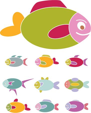fish signs Stock Vector - 8953119
