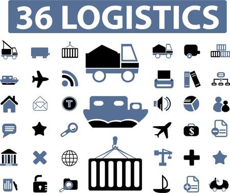 symbols commercial: logistics signs
