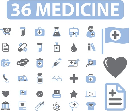 36 medicine web signs Vector