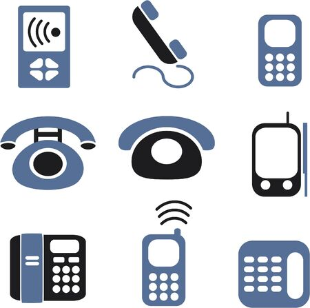 phones signs Illustration
