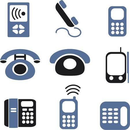 señales de teléfonos Ilustración de vector