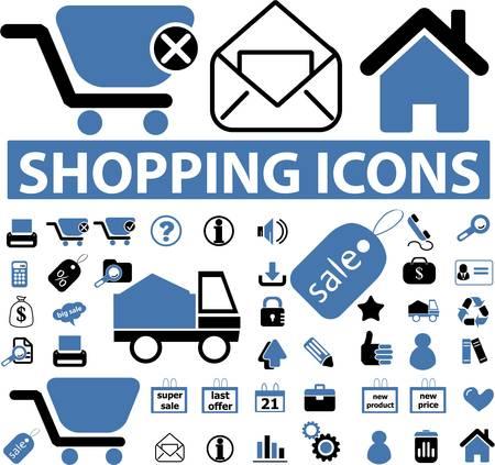 shopping icons Imagens - 8953121