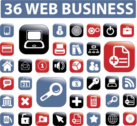 proffesional: 36 web proffesional business buttons Illustration