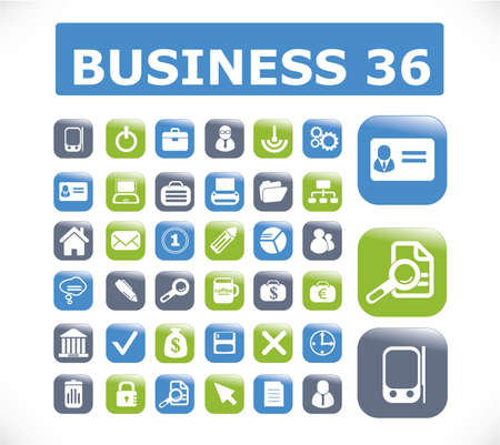 36 business presentation buttons photo