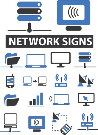 network signs Illustration