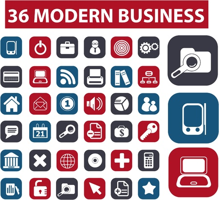 36 modern business buttons