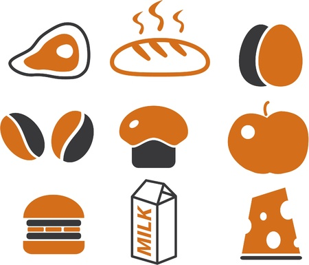 cheese bread: food cute signs Illustration