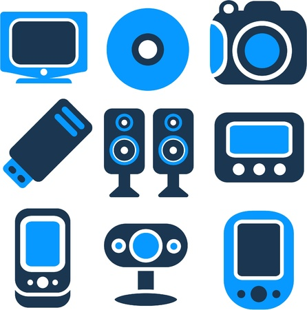 new multimedia icons Stock Vector - 8953118