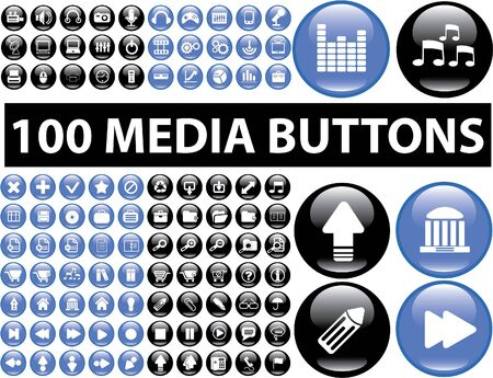 100 media buttons