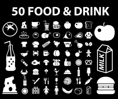 fish icons: 50 food  Illustration